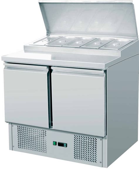 countertop prep cooler king ksc200 hd king ksc200 hd 2 door stainless steel