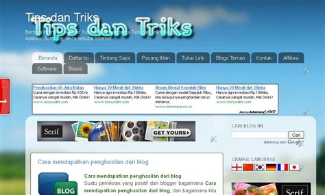 membuat website tracking cara membuat home page di blogspot tips dan triks