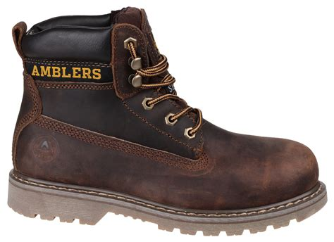 amblers fs164 brown leather safety work boots the safety