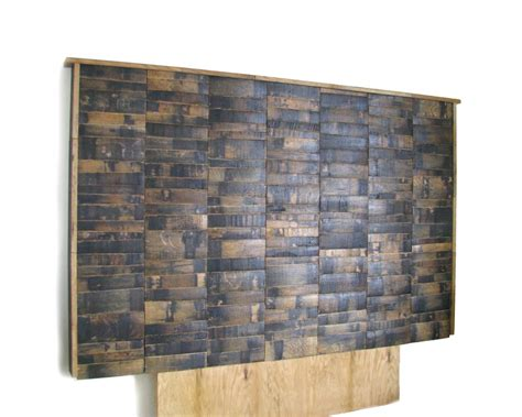 Wine Barrel Headboard by Bourbon Barrel Furniture Hungarian Workshop
