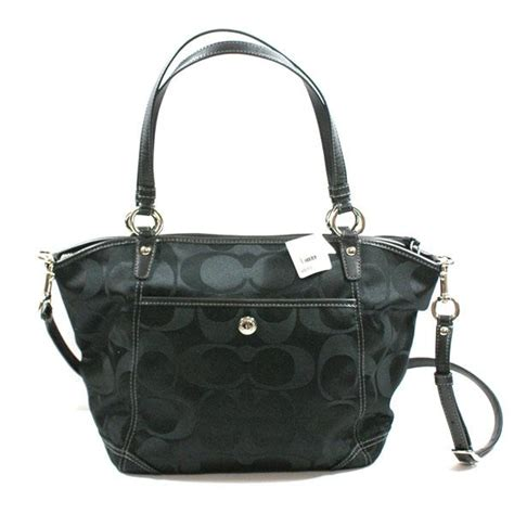 coach swing bag signature leah shoulder bag swing bag black 13139 coach