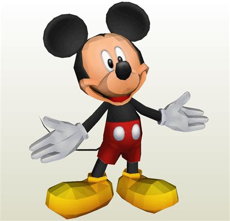 Mickey Mouse Papercraft - papercraft pdo file template for disney mickey mouse