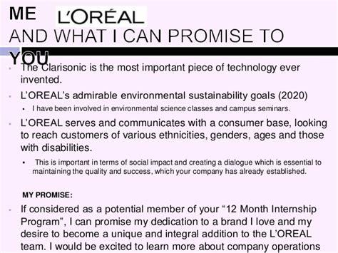 cover letter for internship l oreal wilbur l oreal digital cover letter