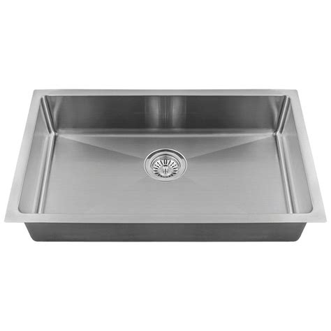 Mr Direct Kitchen Sinks Reviews Mr Direct All In One Undermount Stainless Steel 18 In Single Bowl Kitchen Sink 2905s 18 The