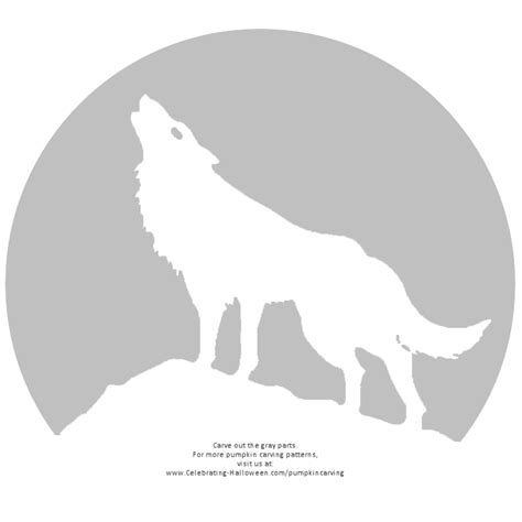 howling wolf pumpkin carving stencil gif 800 215 800