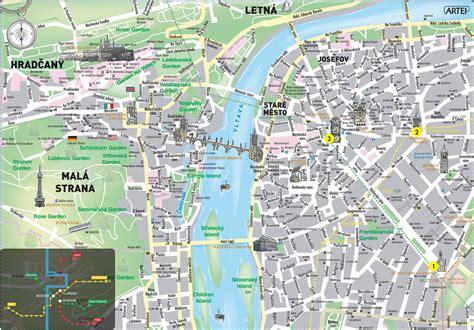 printable map prague large detailed historical map of prague city prague city