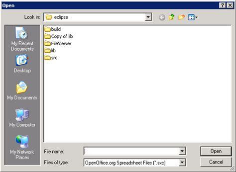 java swing open file filedialog 171 swt 171 java tutorial
