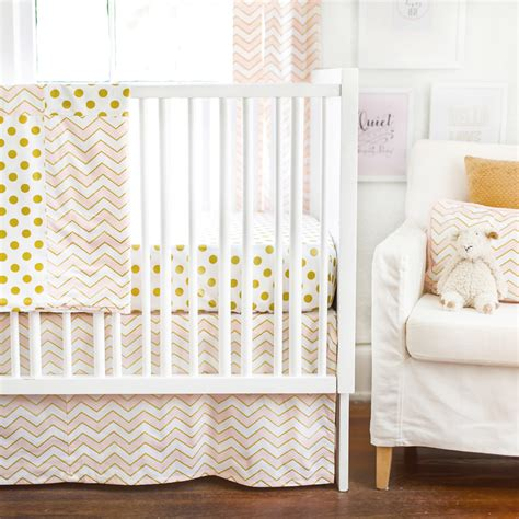pink and gold baby bedding gold rush pink crib bedding set by new arrivals inc