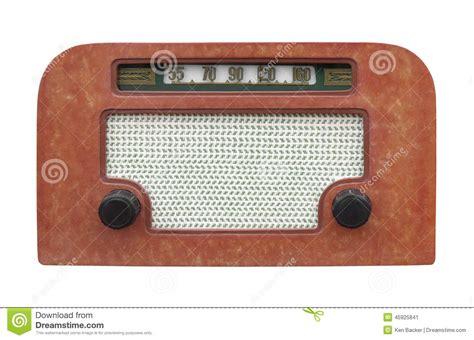Small Desk Radio Vintage Table Radio Isolated Stock Photo Image 45925841