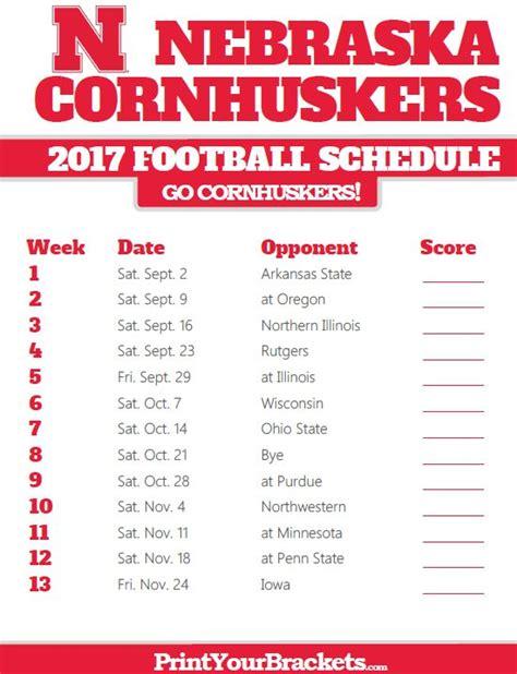 Unl Mba 2017 Class Schedule by 25 Best Ideas About Cornhusker Football Schedule On
