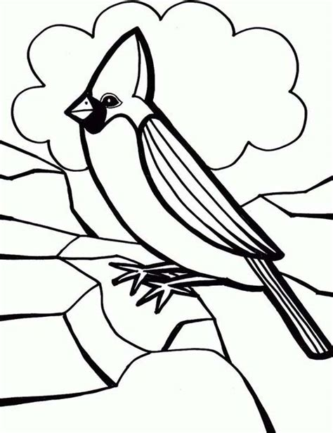 cardinal coloring pages preschool cardinal bird coloring page for preschool kids cardinal