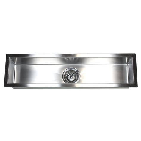 Restaurant Kitchen Sinks Stainless Steel 32 Inch Stainless Steel Undermount Single Bowl Kitchen Bar Prep Sink Zero Radius Design