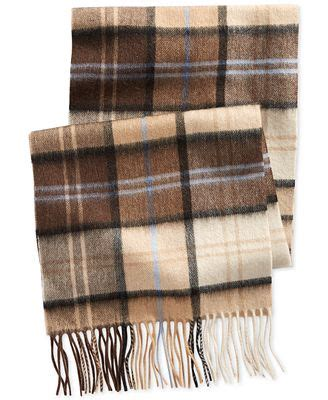 club room plaid scarf created for macy s hats