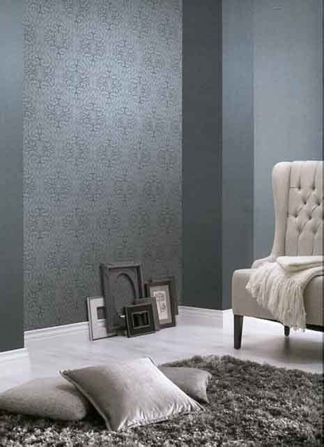 tapeten rasch schlafzimmer rasch textil shades 223551 blau grau silber ornament