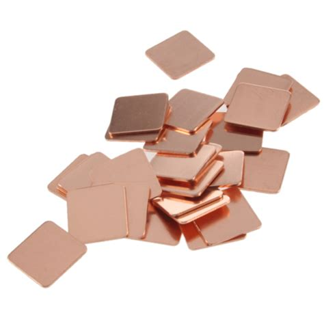 Thermal Pad Copper 20x20x05mm 30pcs 15mmx15mm heatsink copper shim thermal pads for laptop gpu cpu vga in fans cooling from