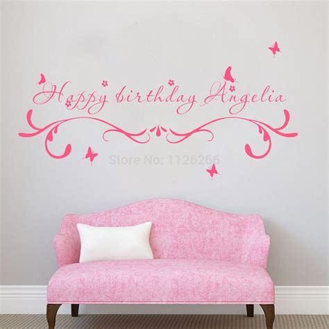 wall decals online kids custom wall vinyl cheap wall custom made happy birthday creative wall stickers quotes