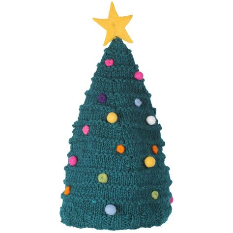 knitted christmas tree hat pachamama natural collection