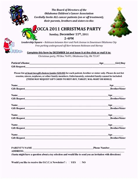 christmas potluck sign up sheet template template