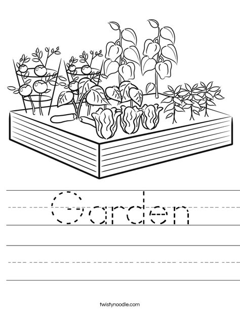 garden coloring worksheet garden worksheet twisty noodle