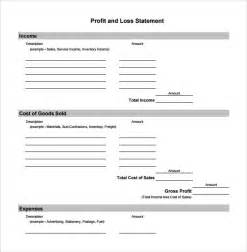 profits and loss template profit and loss template 20 free documents in