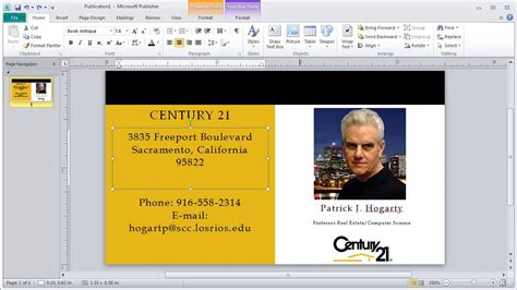card photo template for publisher business card edit using microsoft publisher