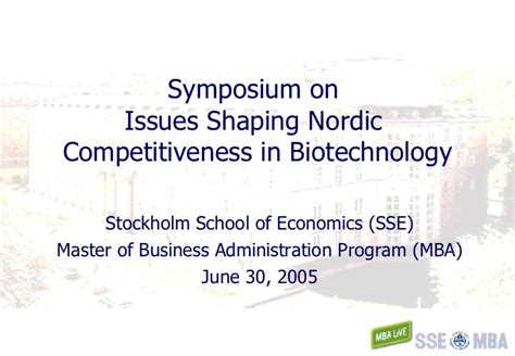 Mba In Biotech by Uppsala Biotech Master Overview