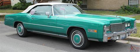 cadillac eldorado 76 1976 cadillac eldorado convertible 76 green with white