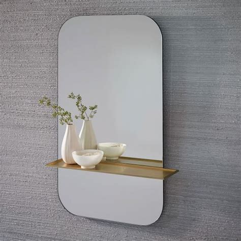 Floating Shelf Wall Mirror West Elm Mirror Floating Shelves