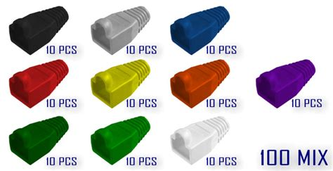 Boot Rj45 Original Isi 30pcs 100x rj45 cat 5e 6e modular boot ethernet cable connector cover boots mix 5309786889317 ebay