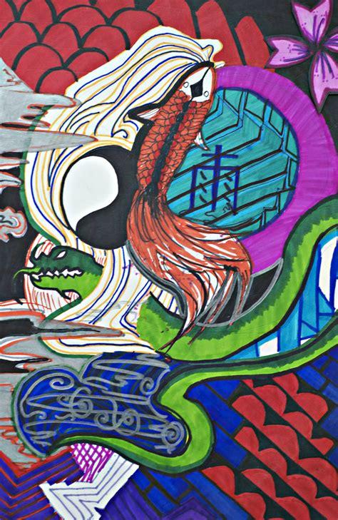 yakuza tattoo design wallpaper yakuza tattoo the vibrant river by rinaryuu on deviantart