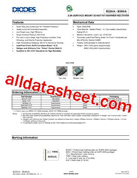 diodes inc us1j 13 f b240 13 f 데이터시트 pdf diodes incorporated