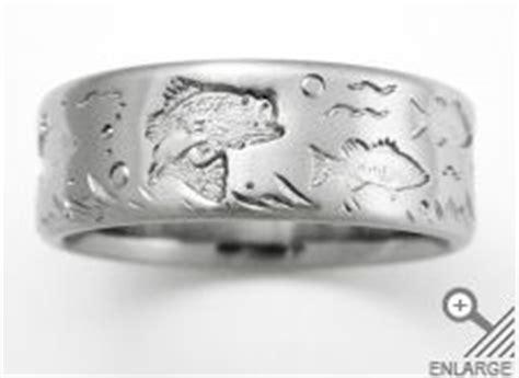 titanium wedding rings bass fishing  wedding ring
