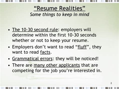 Resume 30 Second Rule by Resume Writing Tips
