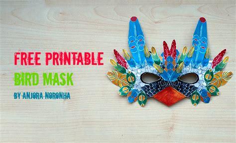 printable bird mask free printable bird mask by anjora noronha things we do blog