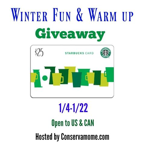 Starbucks Giveaway - winter fun warm up starbucks giveaway