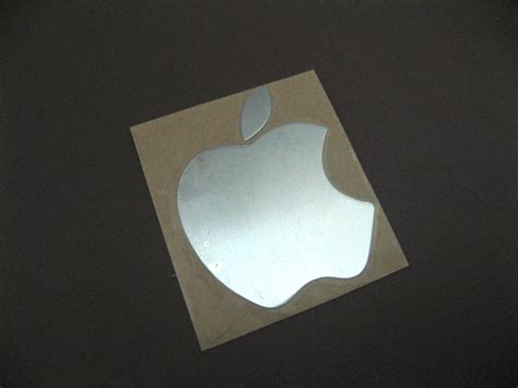 Sticker Apple apple label aufkleber sticker badge logo metal