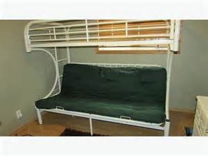 white bunk bed with bottom futon west