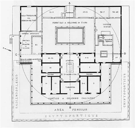 floor plan of a roman villa villa of the mysteries floor plan after vesuvius