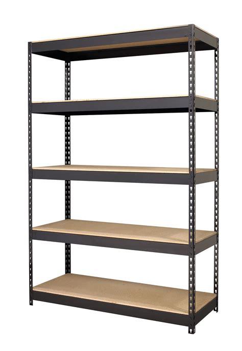 Black Iron Shelf by Iron Black 5 Shelf Riveted Steel Shelving