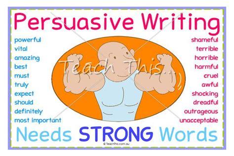 persuasive writing needs strong words printable