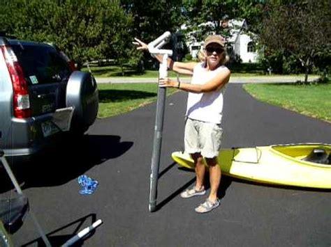 boat loader using car winch homemade pvc kayak loader youtube