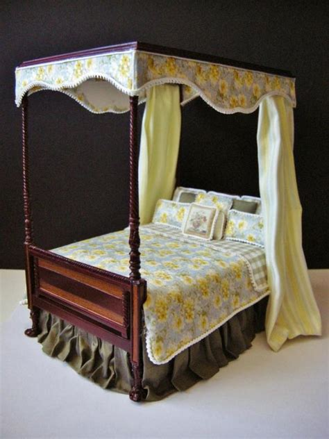 dollhouse custom furniture dressed bespaq canopy bed ebay