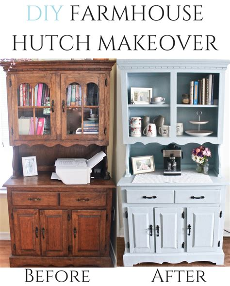 diy chalk paint hutch the easiest diy hutch makeover project using chalk paint