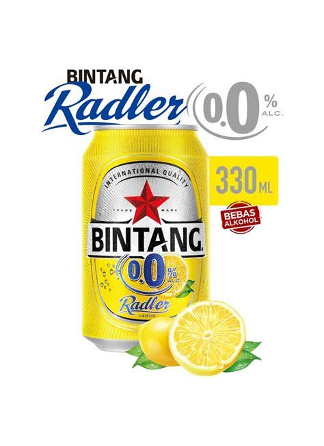 bintang 0 0 radler can 330ml bintang soft drink radler 0 0 klg 330ml klikindomaret