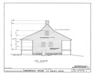 American Bungalow House Plans File Drawing Of The East Elevation Of The Amoureaux House