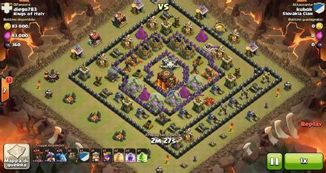 Kaos Coc Baloonion Minion clash of clans th10 vs th10 lava hound balloon minion lavaloonion clan war 3 attack
