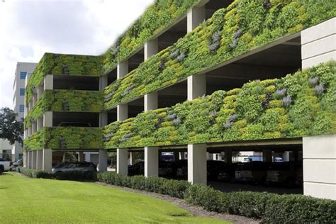 livewall living wall system make parking more pleasant