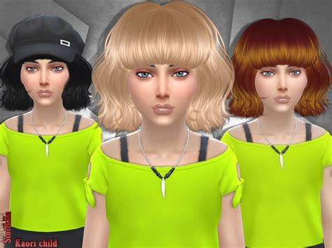the sims resource kids hair sintikliasims sintiklia hair kaori child