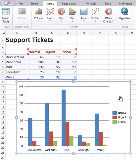 Windows Spreadsheet by Windows Spreadsheets Charting Support And More What S