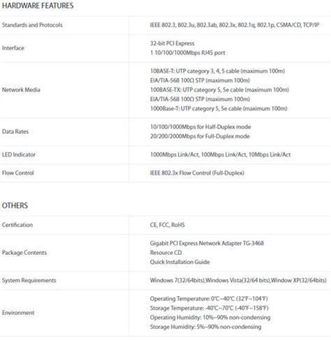 Harga Tp Link Gigabit Pci Network Adapter Tg 3269 jual tp link tg 3468 harga bersaing spesifikasi lengkap